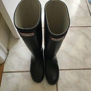 Hunter Boots black tall matte